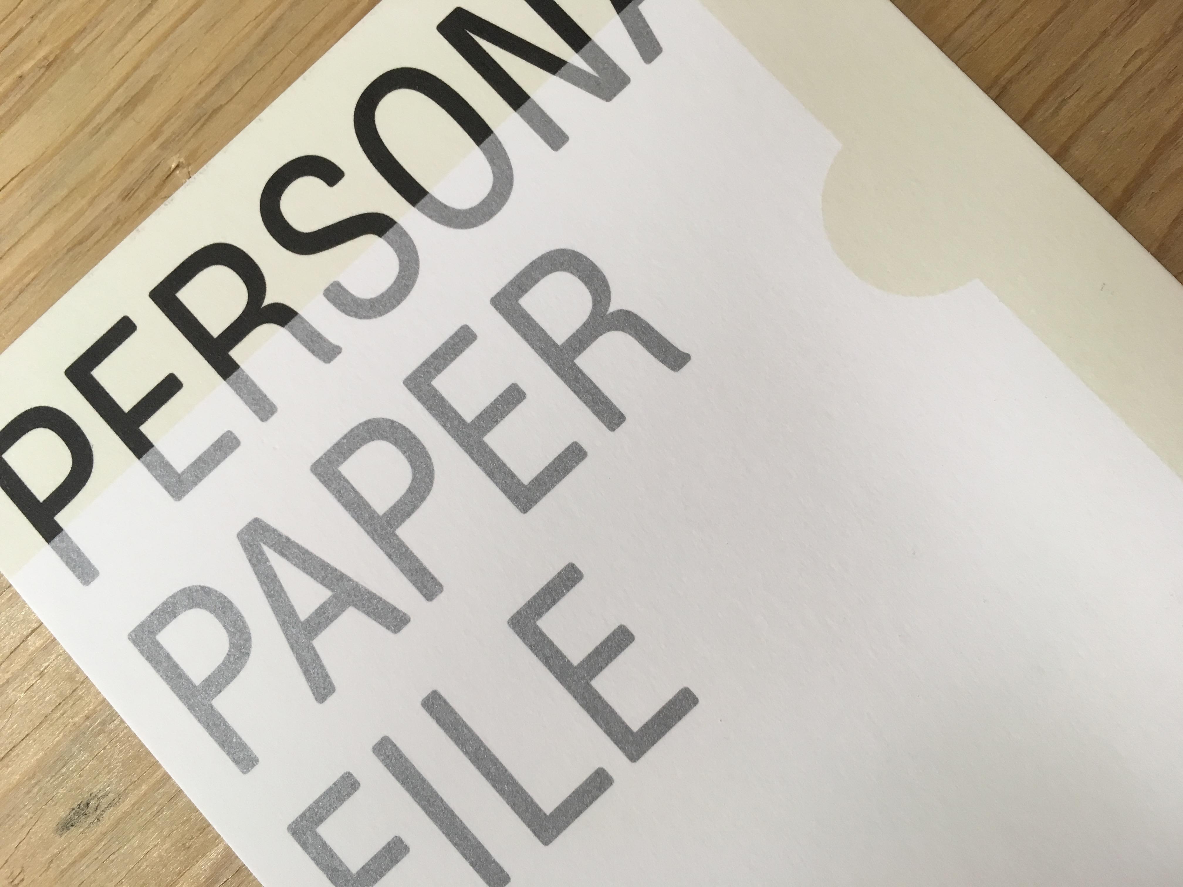 「PERSONAL PAPER FILE」開催中